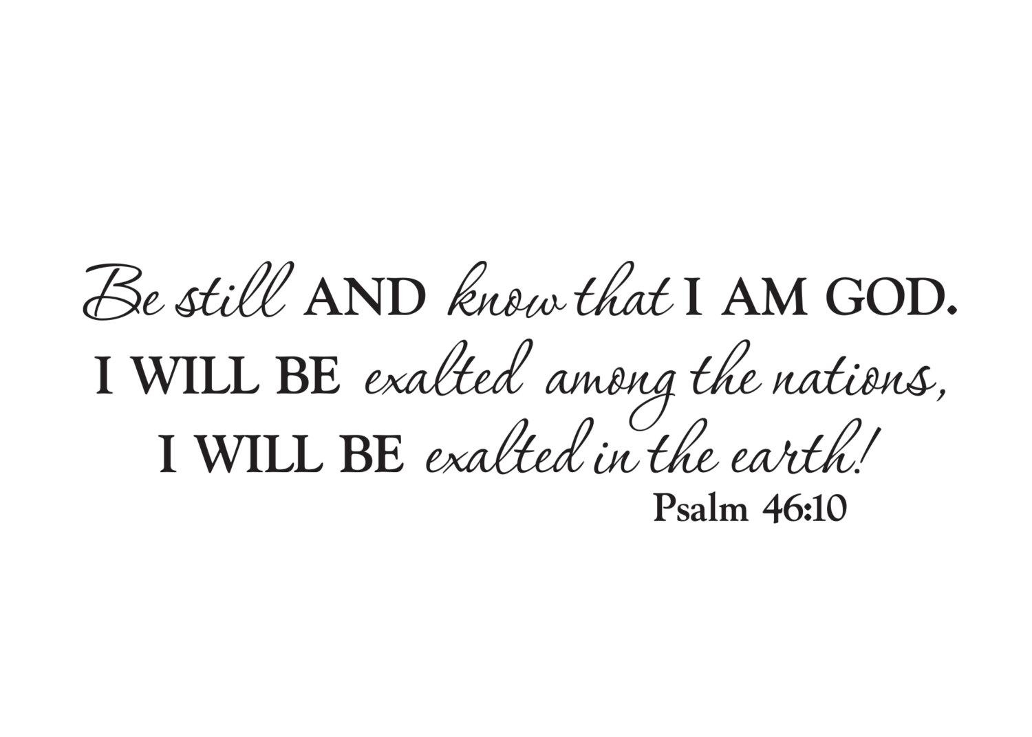 Scripture Wall Art Vinyl Bible Verse Be Still And Know That For Be Still And Know That I Am God Wall Art (View 7 of 20)