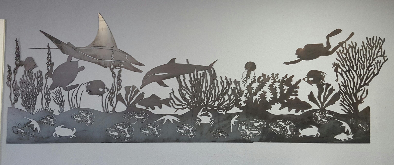 Sea Life Mural Metal Wall Art | Blue Collar Welding Llc In Sea Turtle Metal Wall Art (View 16 of 20)