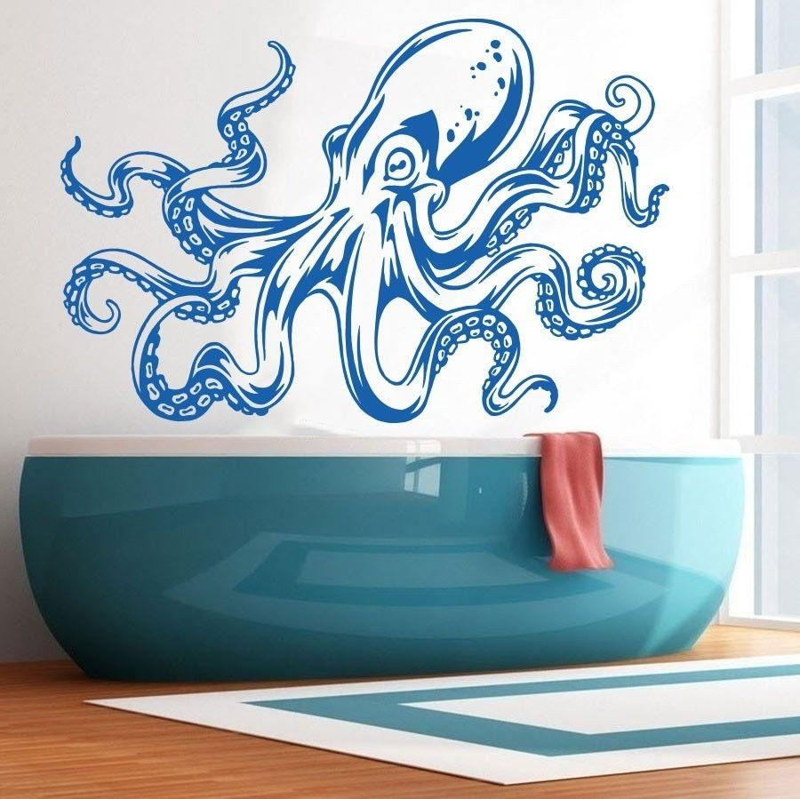 Sea Ocean Animal Octopus Tentacles Wall Decal Art Decor Sticker With Regard To Octopus Tentacle Wall Art (Image 19 of 20)