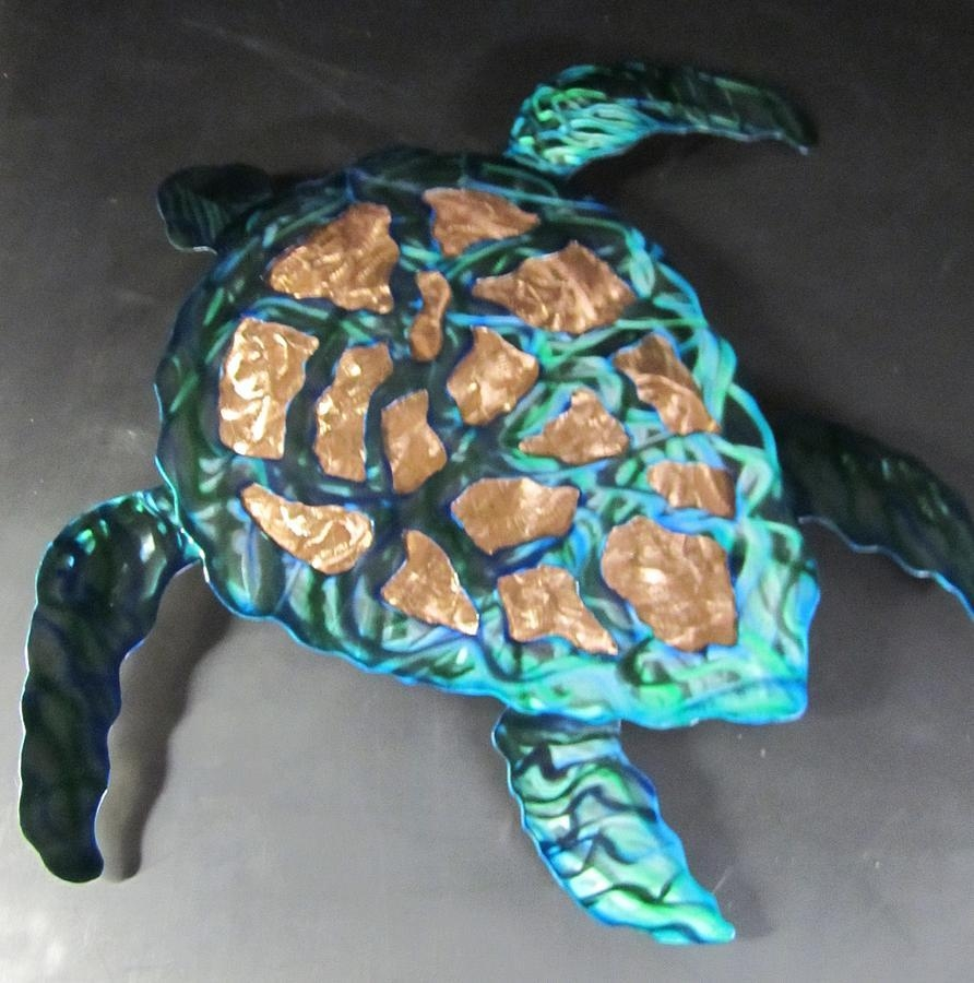 Sea Turtle Abstract Wall Sculpture Sculpturerobert Blackwell With Sea Turtle Metal Wall Art (Image 7 of 20)