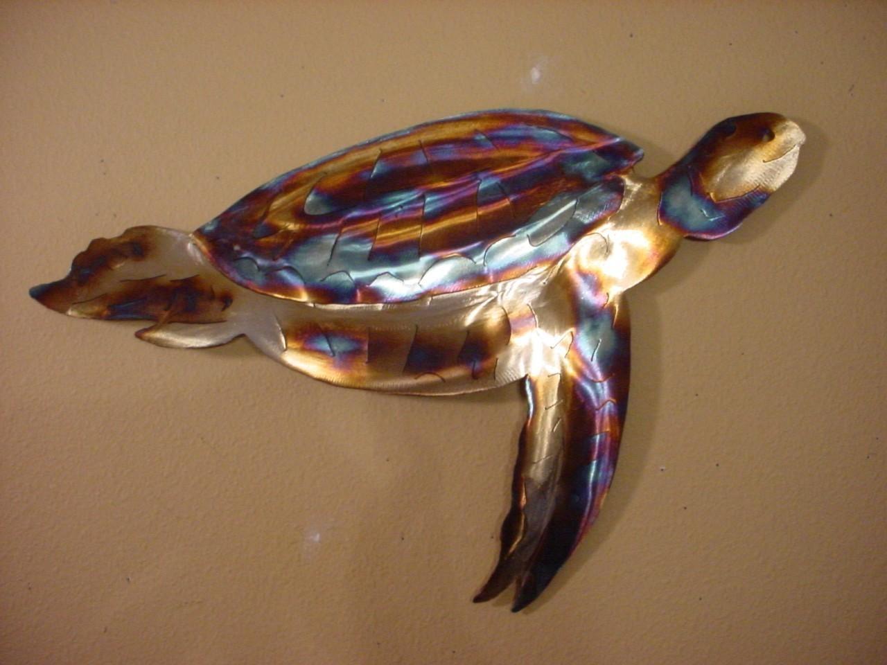 Sea Turtle Hawksbill Green Loggerhead Turtles Steel Ocean Regarding Sea Turtle Metal Wall Art (View 4 of 20)