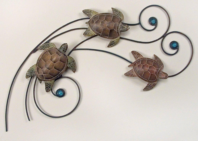 Sea Turtle Metal Wall Decor : Sea Turtle Wall Decor Ideas – Design With Sea Turtle Metal Wall Art (View 10 of 20)