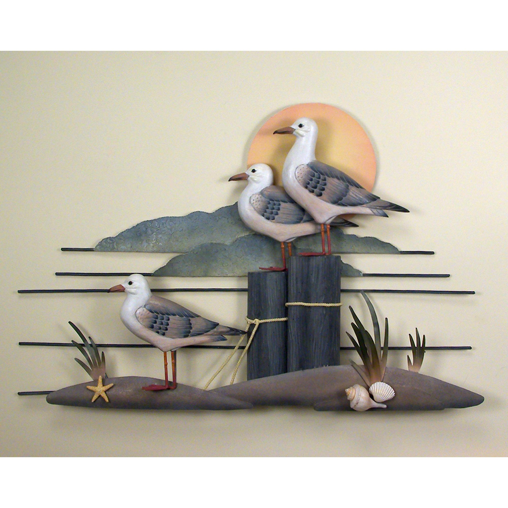 Seagull Trio, Gull, Wall Art, Wall Hangings With Seagull Metal Wall Art (Image 14 of 20)