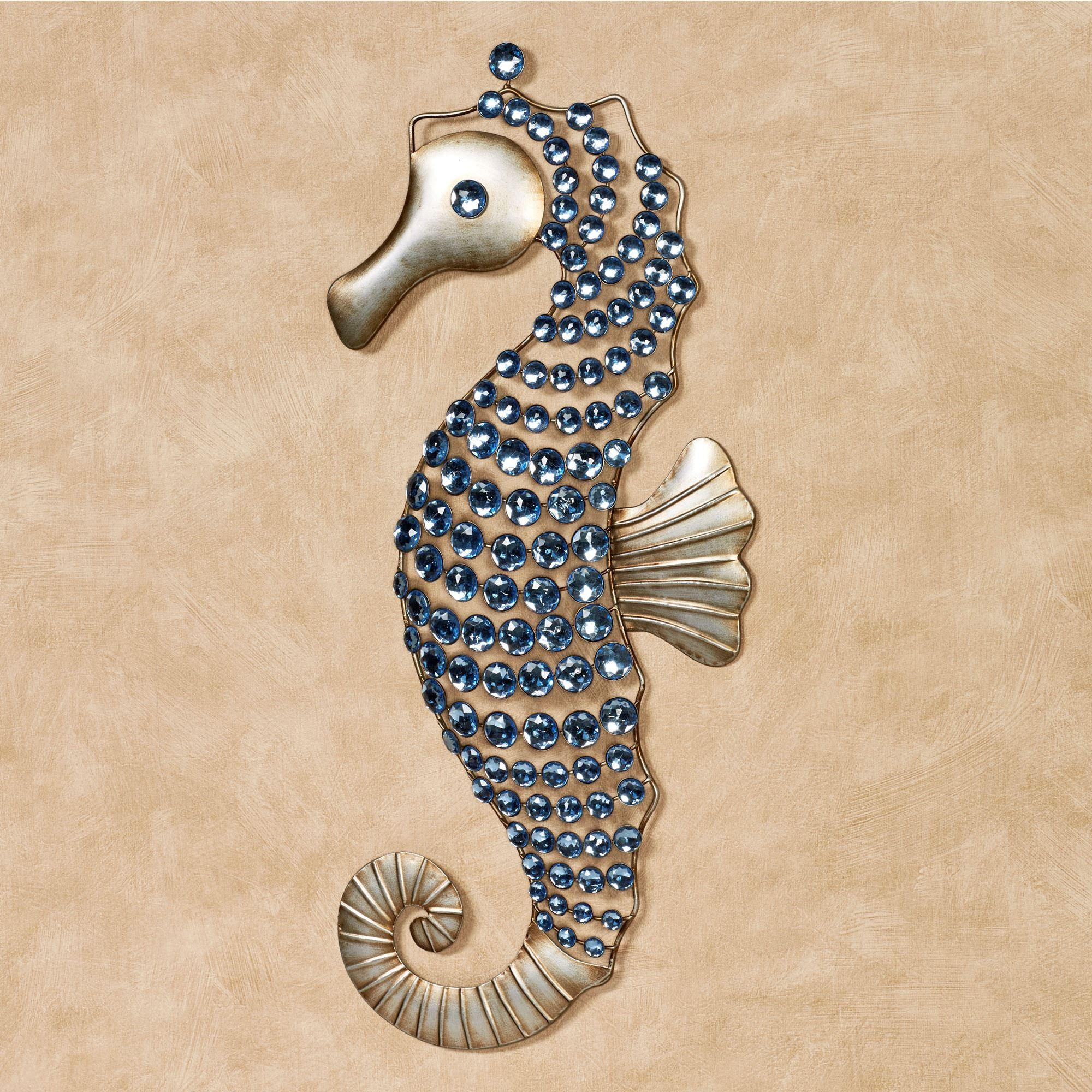 Seahorse Gems Metal Wall Art Regarding Sea Horse Wall Art (Image 9 of 20)