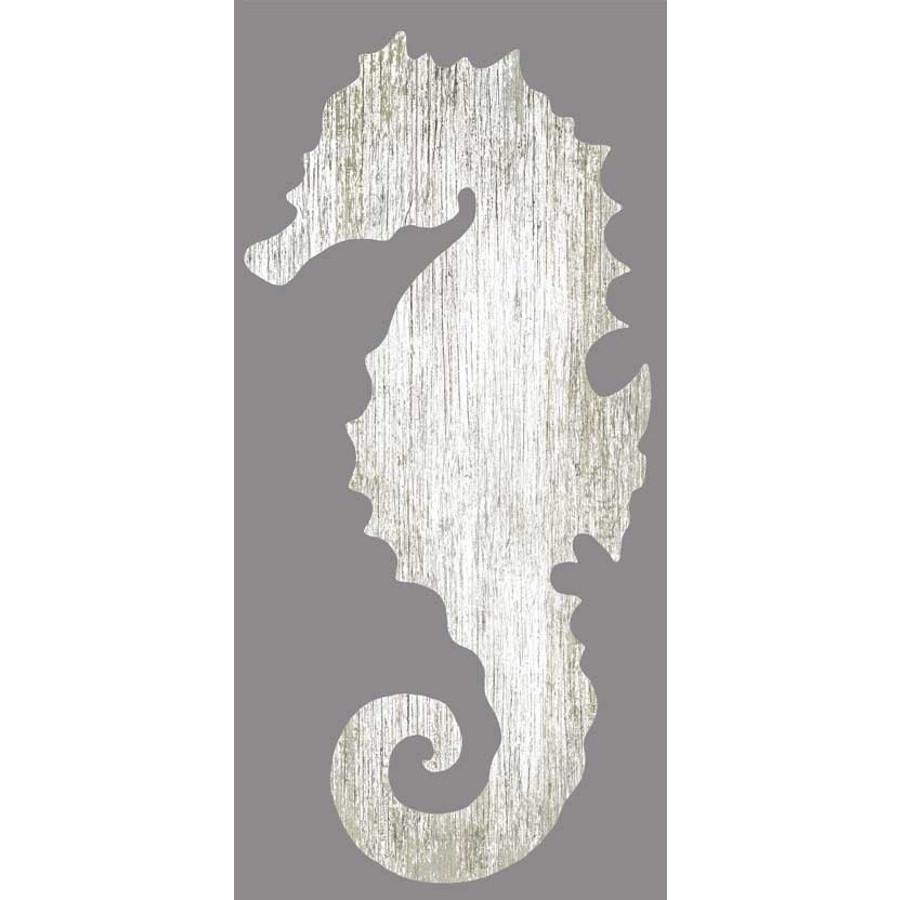 Seahorse Silhouette Facing Left Wall Art – White – Beach Décor Shop For Sea Horse Wall Art (View 10 of 20)