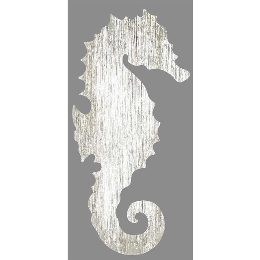 Seahorse Silhouette Facing Right Wall Art – White – Beach Décor Shop With Regard To Sea Horse Wall Art (View 2 of 20)
