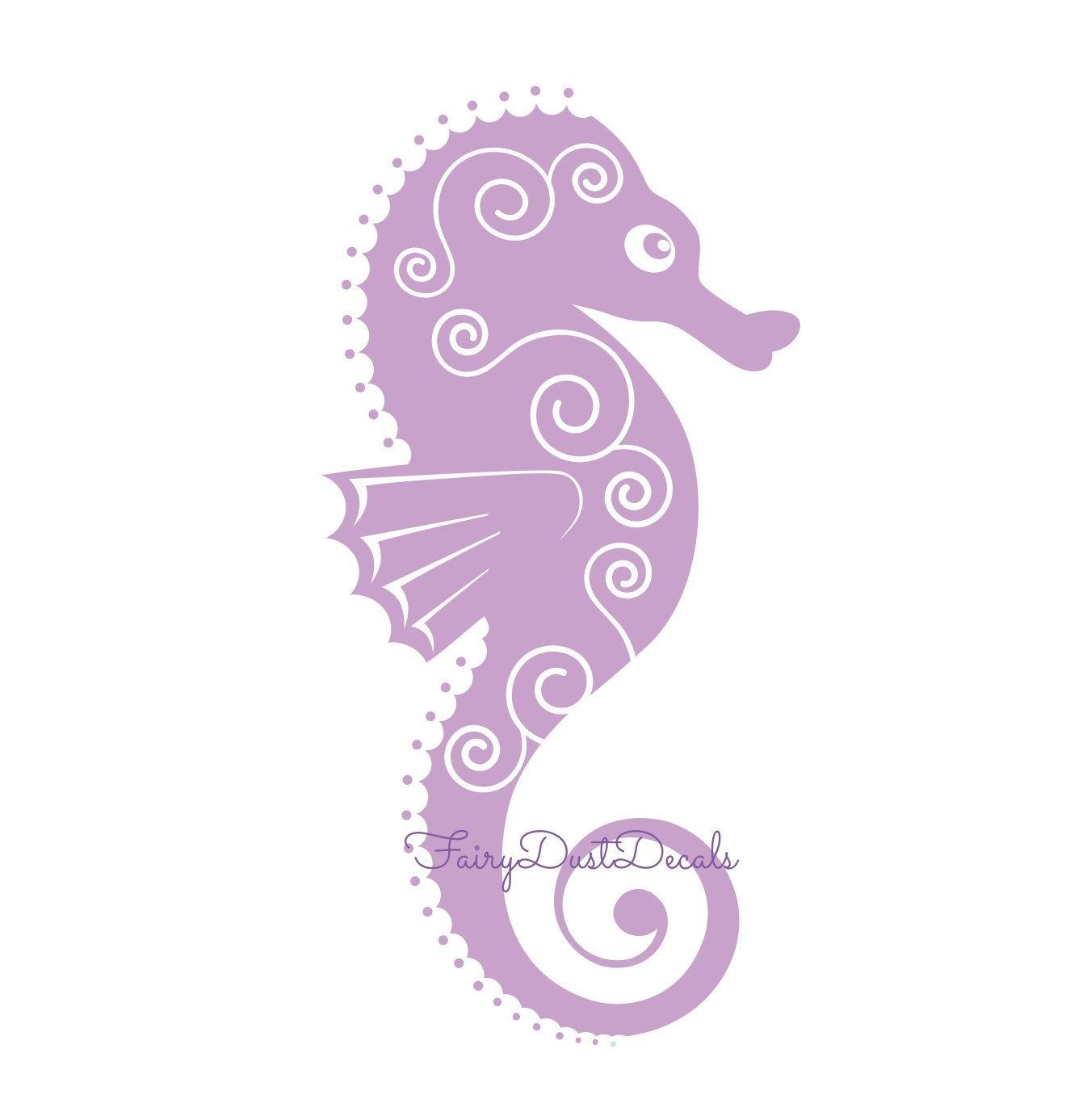 Seahorse Wall Decal Beach Ocean Fish Wall Decor Seahorse With Sea Horse Wall Art (View 18 of 20)