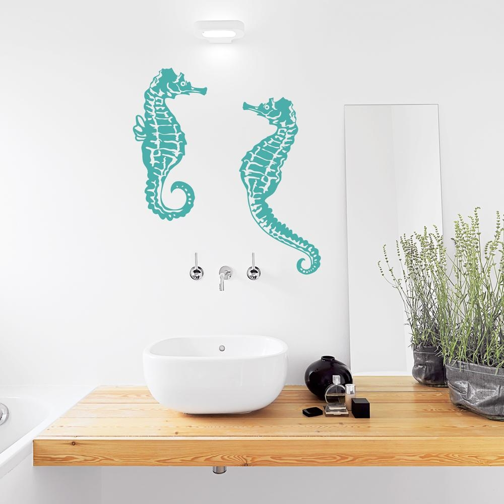 Seahorse Wall Decal For Sea Horse Wall Art (View 11 of 20)