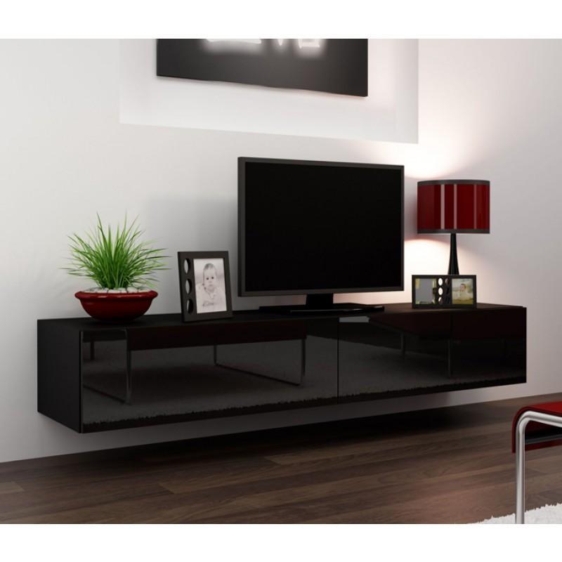 Seattle 23 – Tv Stands – Concept Muebles Regarding 2018 Black Gloss Tv Cabinet (Image 13 of 20)