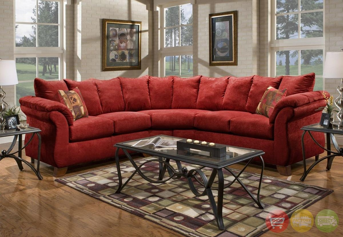 Sectional Microfiber Sofas Within Red Microfiber Sectional Sofas (Image 16 of 21)