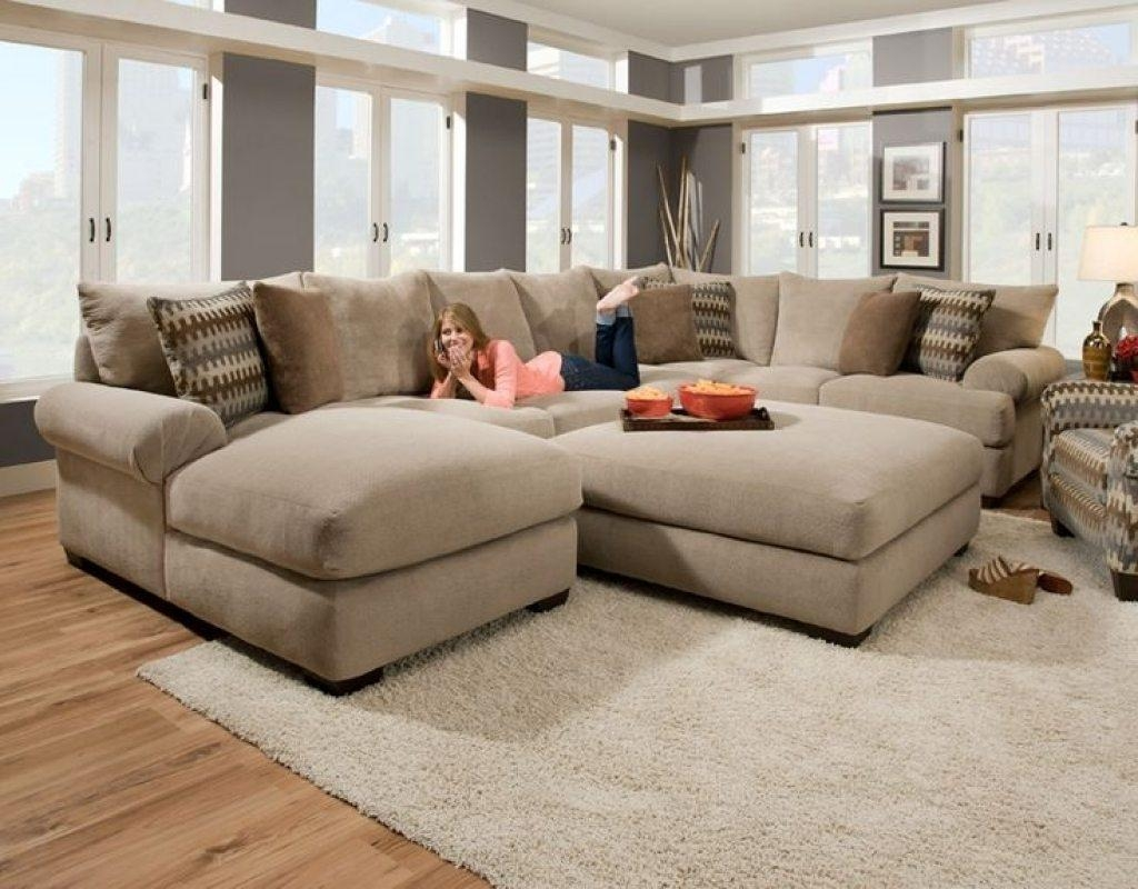 Sectional Sofa Design : Sectional Pit Sofa Zigzag Motif Pillows Within Pit Sofas (Image 17 of 20)