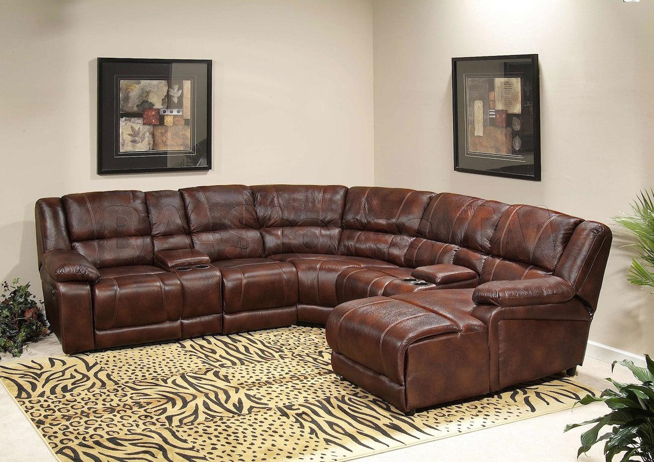 Sectional Sofas: Newport Chaise Sectional W/ Console Storage Within Recliner Sectional Sofas (Image 18 of 22)