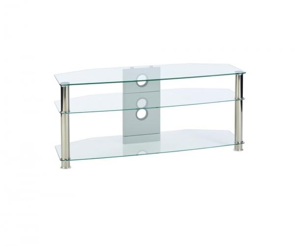 Seemly Felix Cantilever Tv Stand Walnut Black Loading Zoom Felix Regarding 2018 Clear Glass Tv Stand (View 13 of 20)