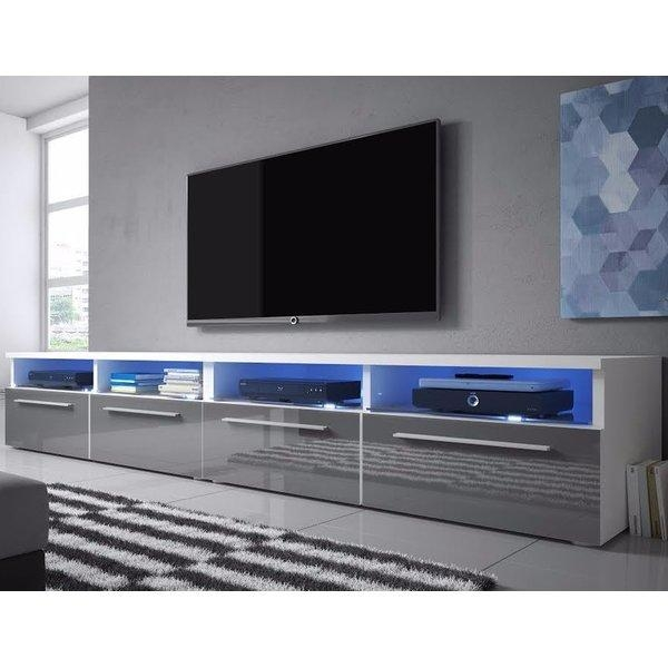 "Selsey Living Siena Double Tv Stand For Tvs Up To 70"" & Reviews In Best And Newest Double Tv Stands (Image 17 of 20)"