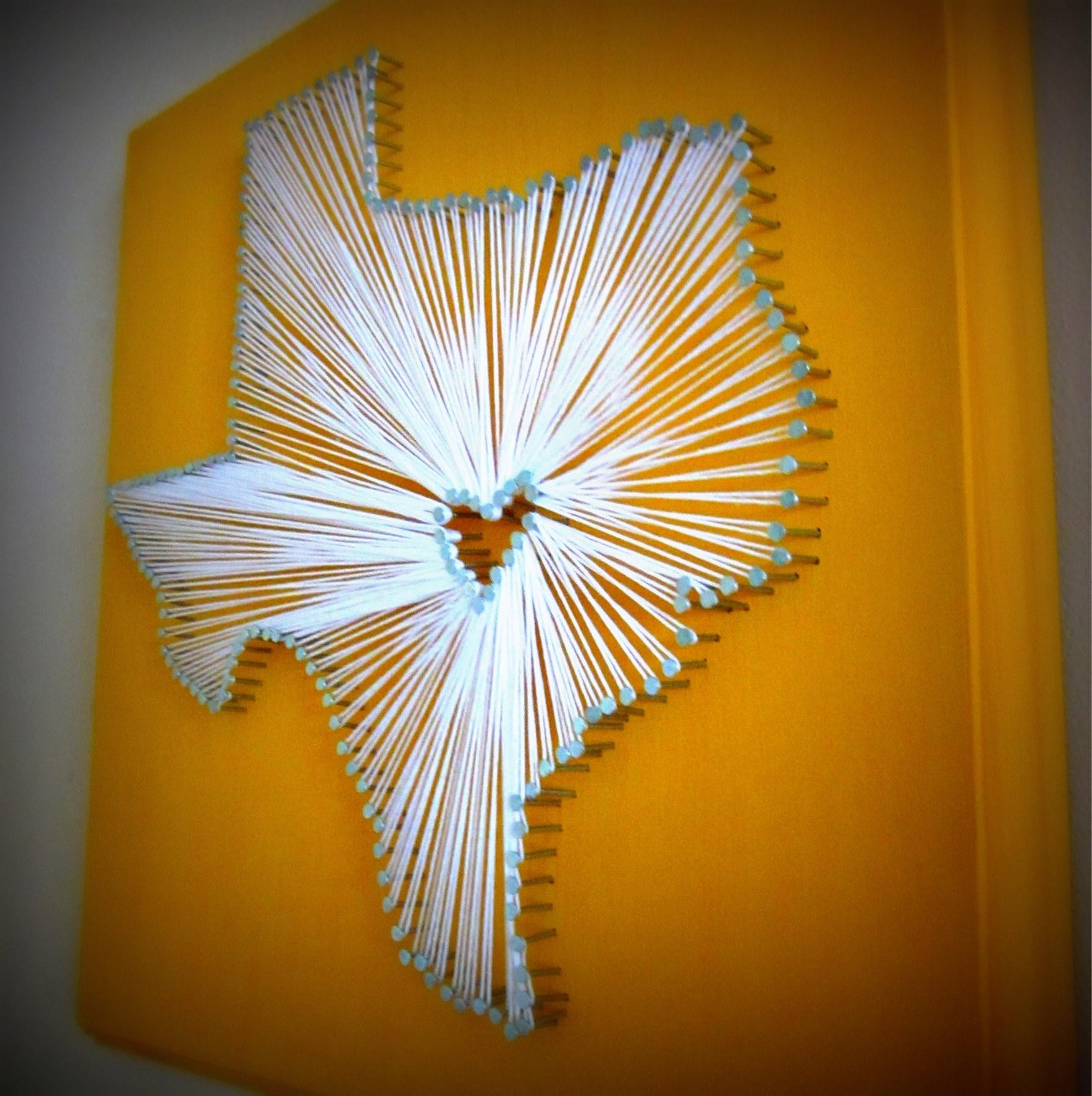 Semi Diy State Nail And String Art | Semi Diy For Nail And Yarn Wall Art (Image 12 of 20)
