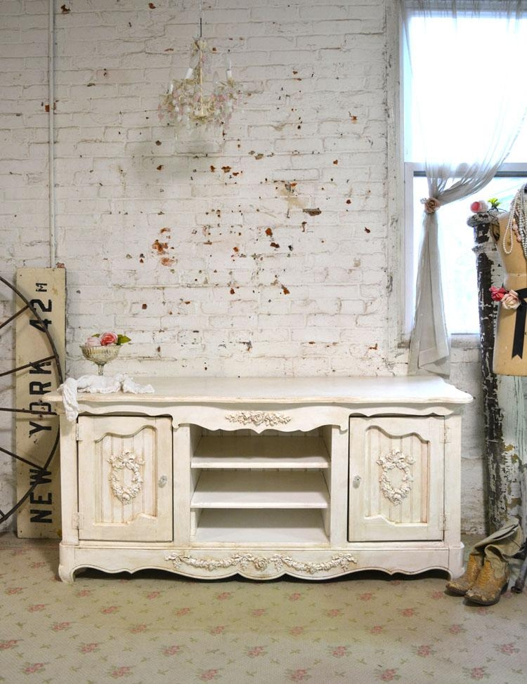 Shabby Chic Console Media Cabinet With Regard To Recent Shabby Chic Tv Cabinets (Image 9 of 20)