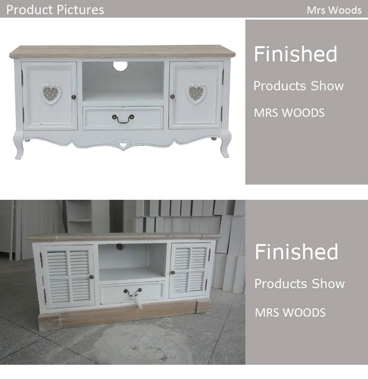 Shabby Chic Tv Stand,heart Shape Cut Of Drawer Tv Stand – Buy Intended For Most Recent Shabby Chic Tv Cabinets (View 11 of 20)