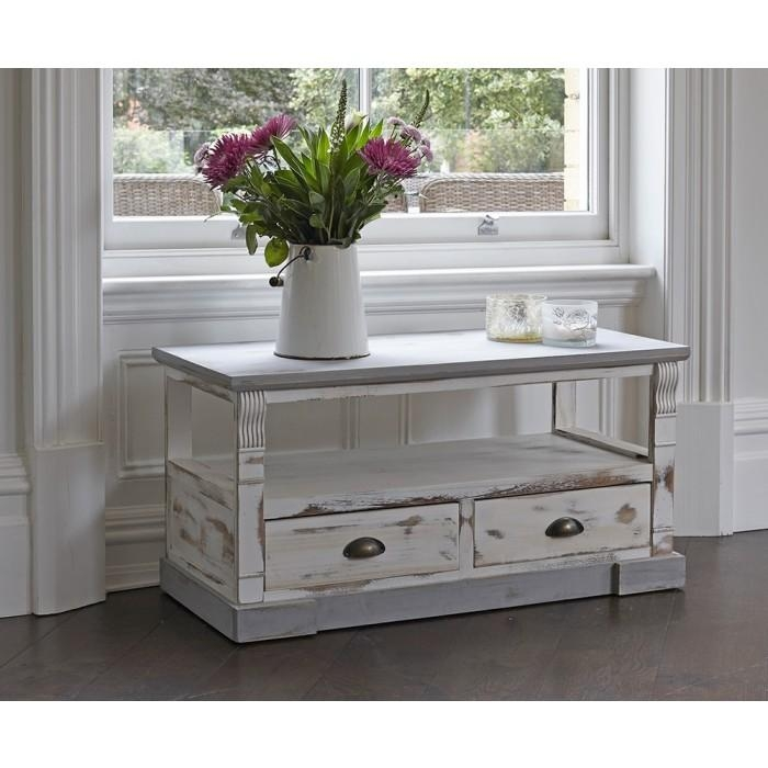 Shabby Chic Tv Unit With Two Drawers In 2018 Shabby Chic Corner Tv Unit (View 8 of 20)