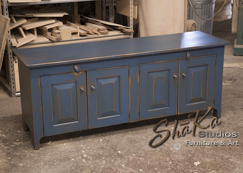 Shaka Studios Custom Furniture | Henegar 60 Inch Blue Tv Stand For Throughout Most Up To Date Blue Tv Stands (Image 15 of 20)