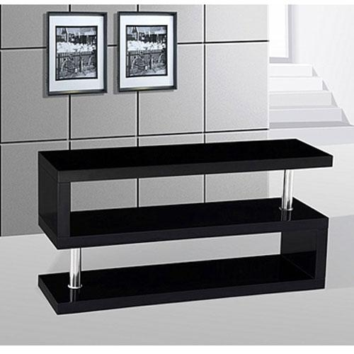 Sharp Stylish Black Gloss Tv Stand – £ (View 9 of 29)
