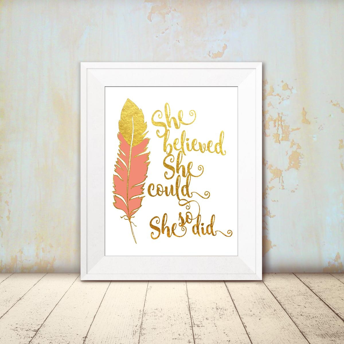Featured Image of She Believed She Could So She Did Wall Art