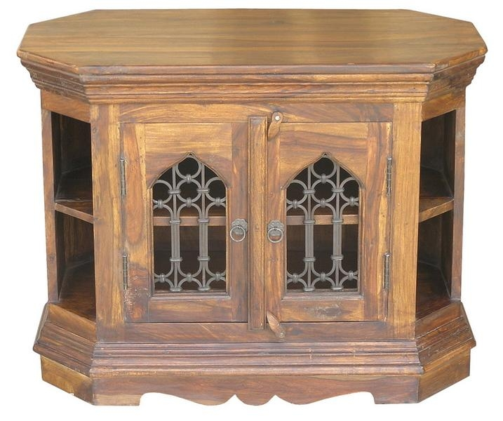Sheesham Jali Corner Tv Unit – Authentic, Unique, Affordable Intended For Current Jali Tv Cabinets (Image 20 of 20)