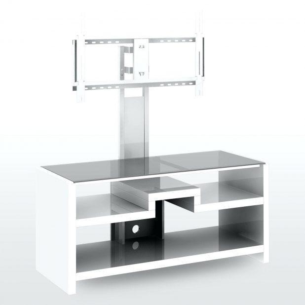 Shelves : White Tv Shelf Unit White Tv Stand With Soundbar Shelf Regarding 2018 Small White Tv Stands (Image 15 of 20)