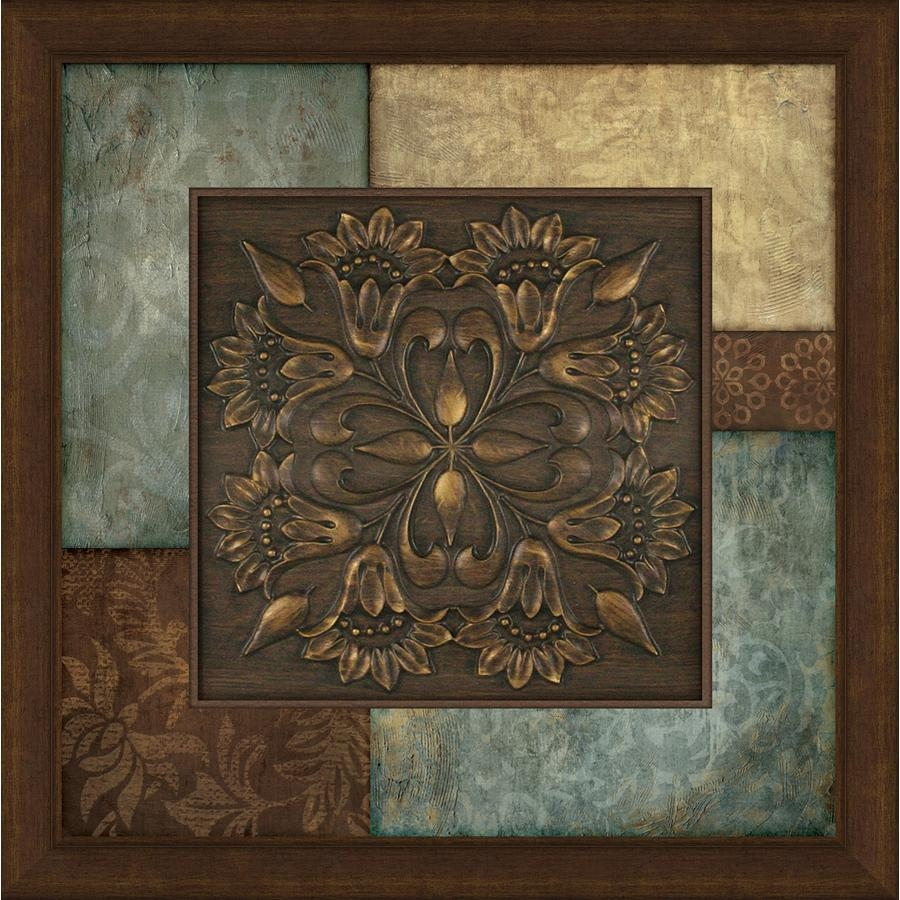 Shop 27 In W X 27 In H Abstract Prints Wall Art At Lowes Inside Brown And Turquoise Wall Art (Image 11 of 20)
