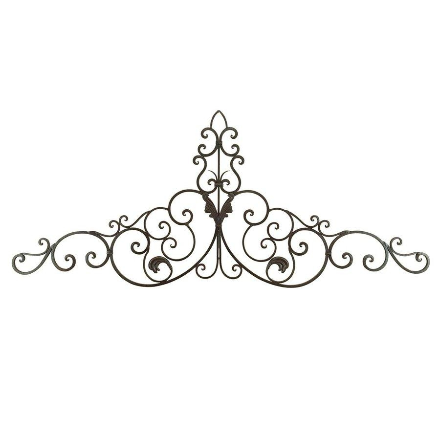 Shop Woodland Imports 59 In W X 24 In H Frameless Metal Scroll Regarding Iron Scroll Wall Art (View 7 of 20)