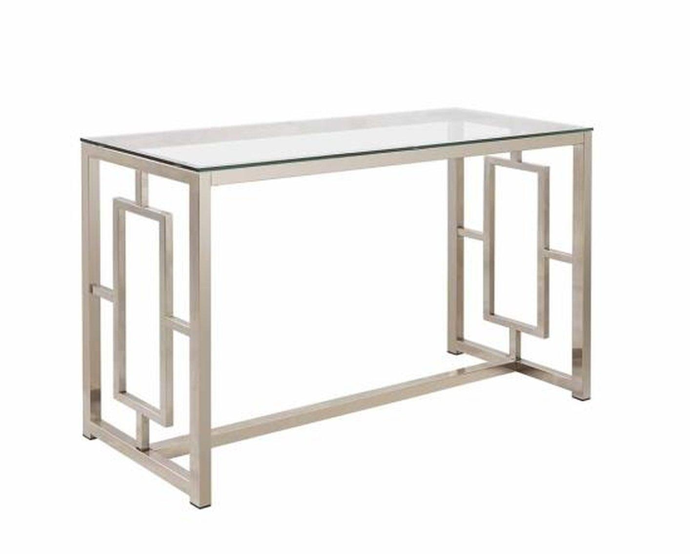 Silver Glass Sofa Table – Steal A Sofa Furniture Outlet Los Angeles Ca For Metal Glass Sofa Tables (View 22 of 22)