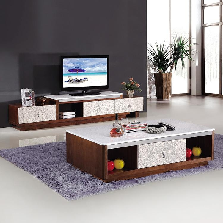 Simple And Modern Marble Topped Coffee Table Tv Cabinet Regarding Most Recent Stylish Tv Cabinets (View 15 of 20)