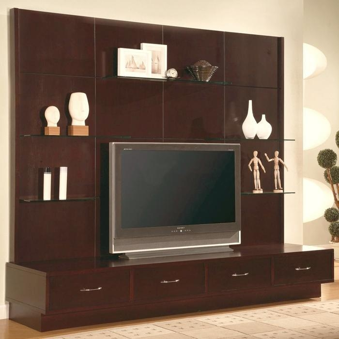 Simple Bedroom Wall Units With Nice Tv Stand And Shelves | Ohwyatt Within Newest Tv Stand Wall Units (View 14 of 20)