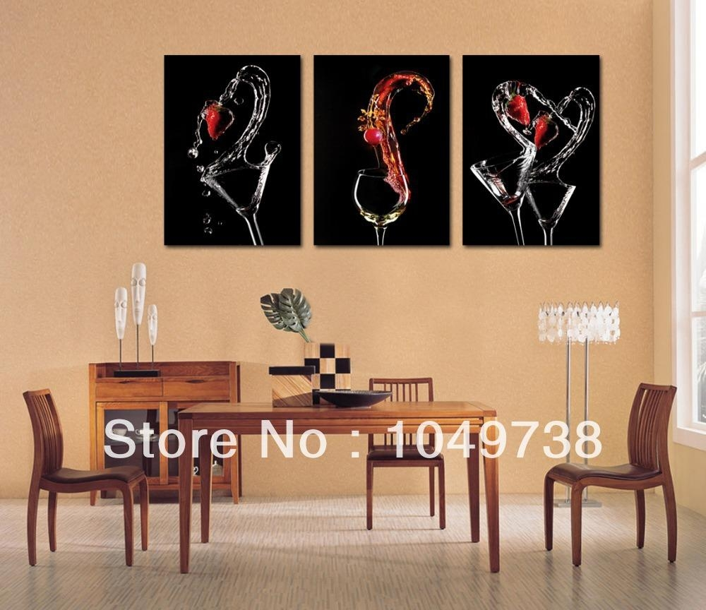 Simple Ideas Dining Room Paintings Bold Canvas Painting For | All Throughout Canvas Wall Art For Dining Room (View 2 of 20)