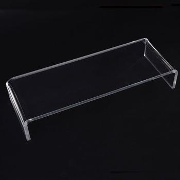 Simple Oblong Clear Acrylic Tv Stand Perspex Monitor Shelf – Buy Pertaining To Most Recent Clear Acrylic Tv Stands (Image 17 of 20)