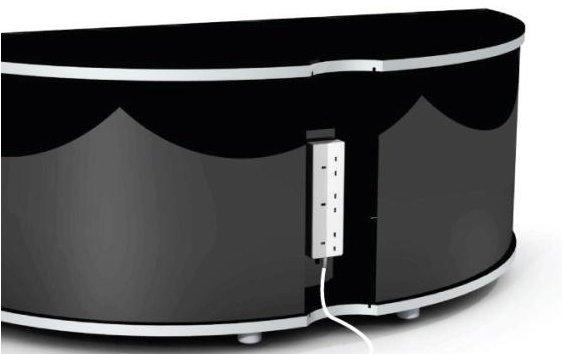Sirius 1200 Black And Walnut Corner Tv Cabinet Pertaining To Newest Walnut And Black Gloss Tv Unit (Image 15 of 20)