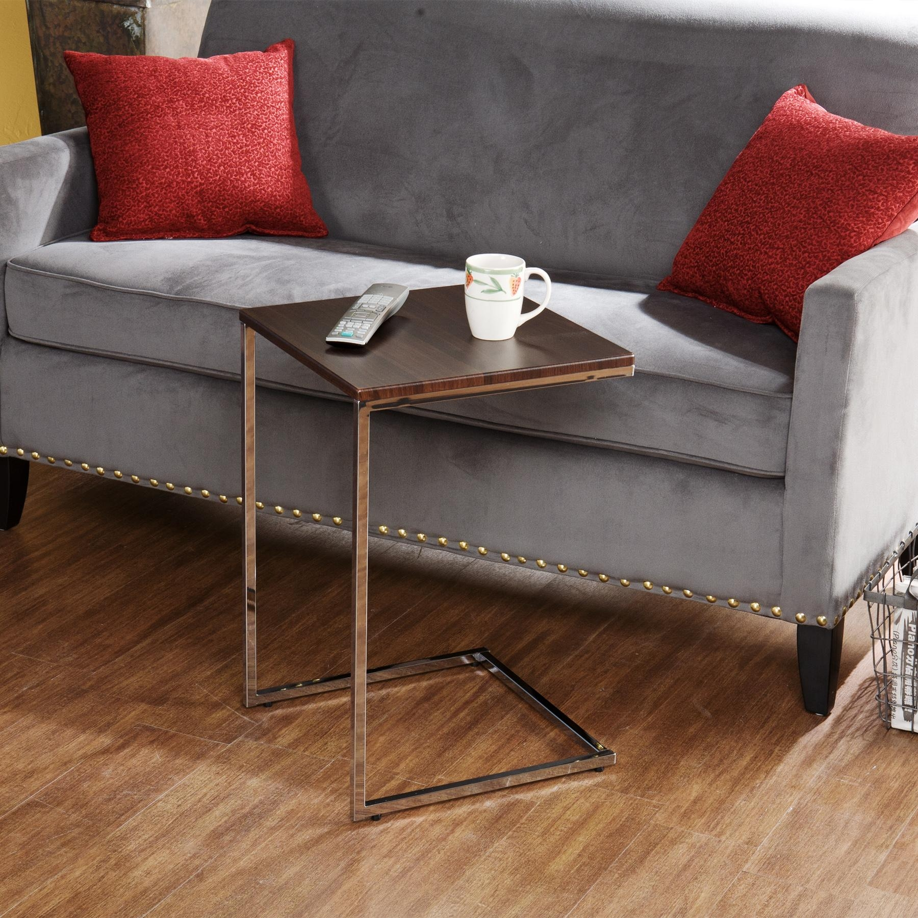 Slide Under Sofa Tv Trays | Centerfieldbar With Regard To Sofa Snack Tray Table (Image 12 of 21)