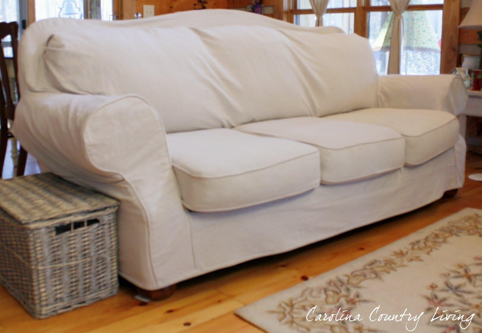 Slipcovers For Small Sofa | Centerfieldbar Throughout Large Sofa Slipcovers (Image 10 of 23)