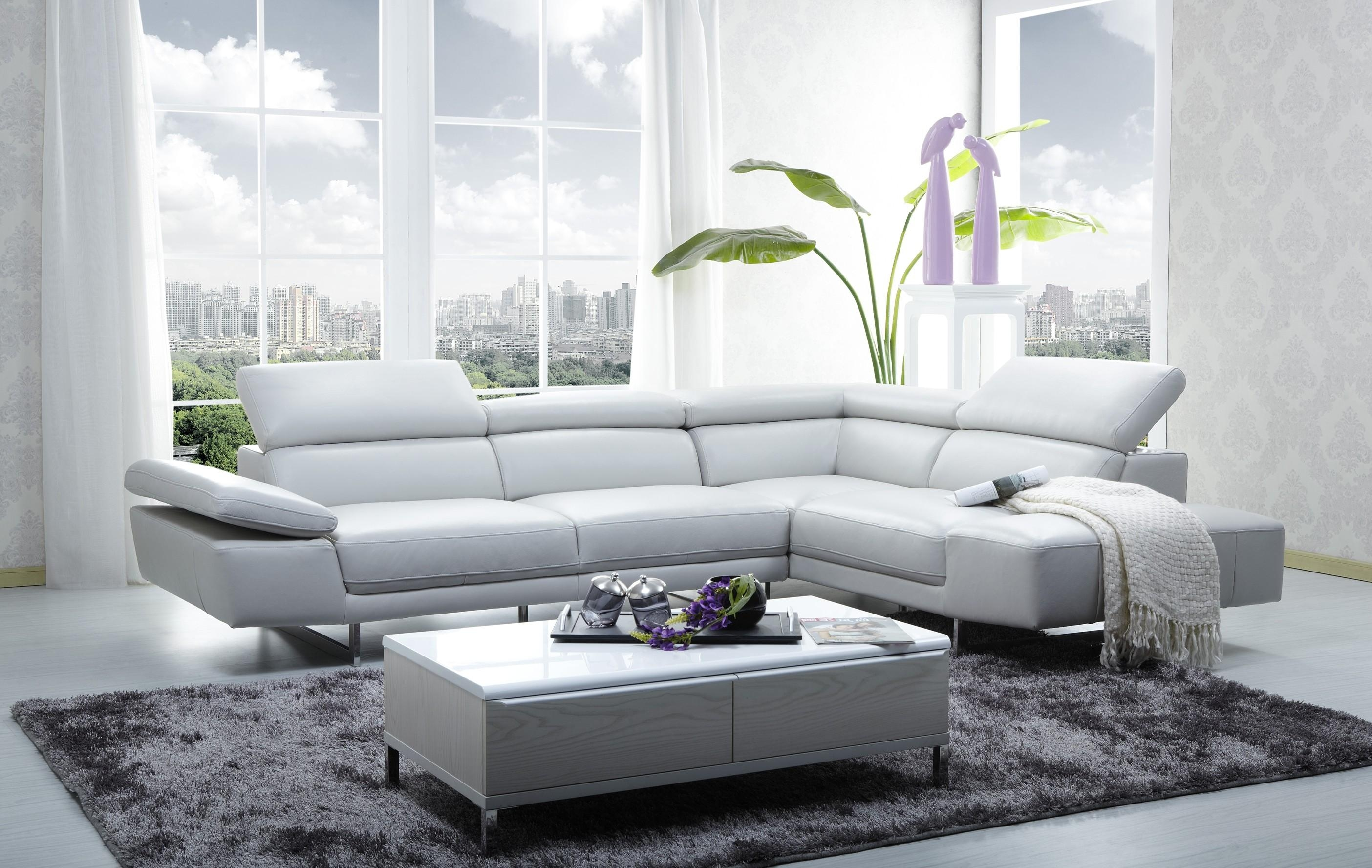 Small Apartment Design Interior With White Sectional Sofa Beds Within White Sectional Sofa For Sale (Image 13 of 21)
