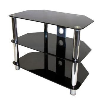 Small Glass Tv Stand – 7 – Furniture Depot With Regard To Most Popular Black Glass Tv Stands (Image 18 of 20)