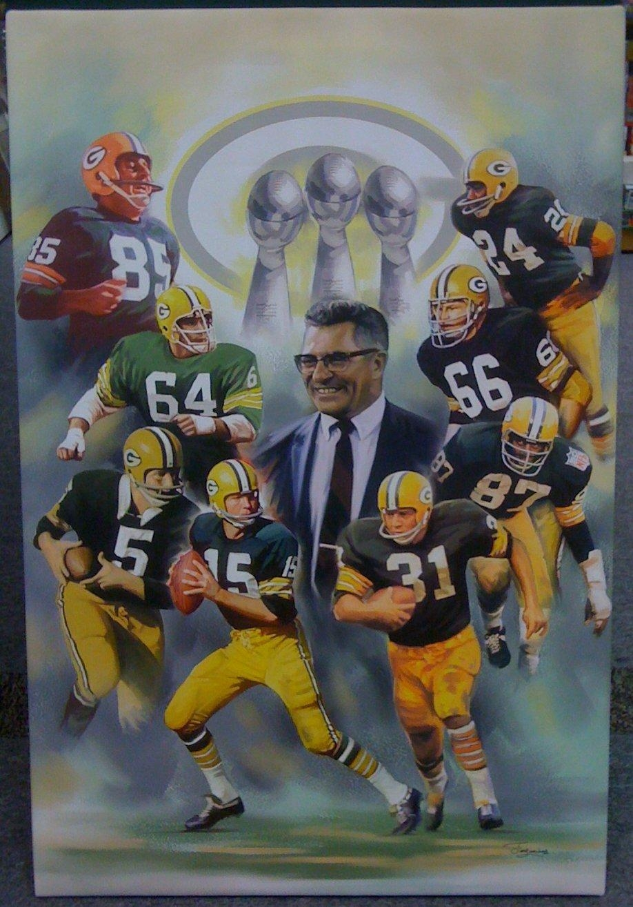 Smncc :: Football :: Posters, Prints :: Green Bay Packers 1960's Inside Green Bay Packers Wall Art (Image 16 of 20)