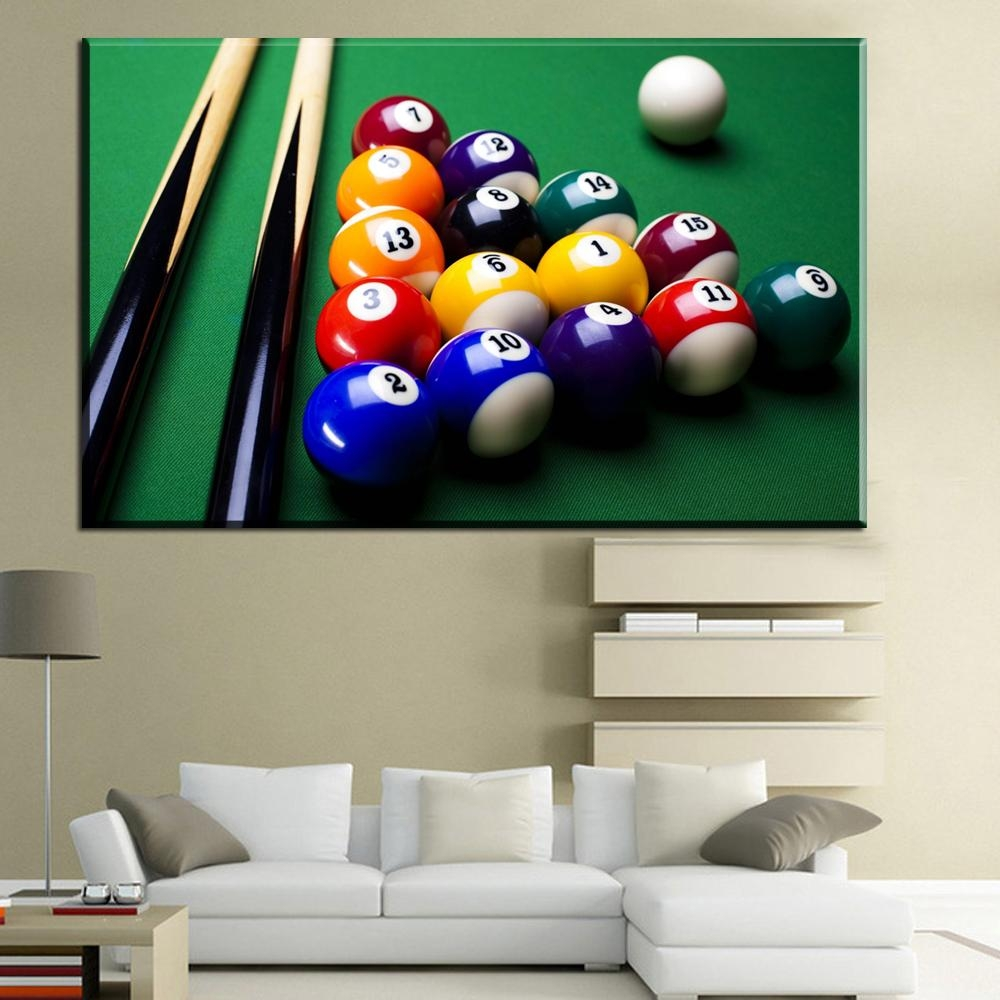 Snooker Poster Promotion Shop For Promotional Snooker Poster On Throughout Billiard Wall Art (View 13 of 20)