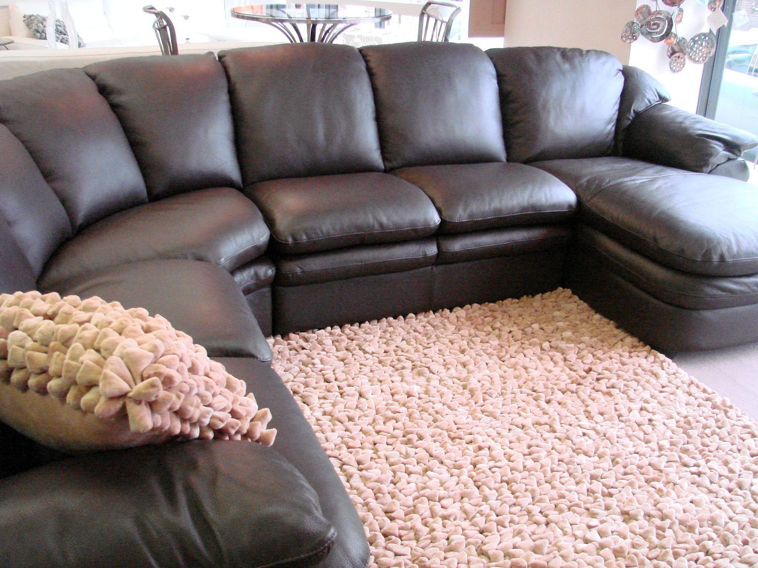 Sofa & Couch: Curved Sectional Sofa | Amazon Couches | Sectional Pertaining To Leather Sofa Sectionals For Sale (View 2 of 20)