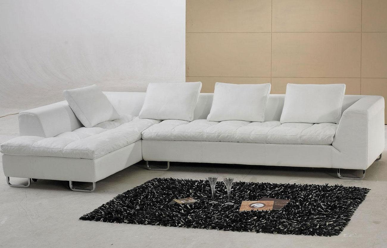 Sofa & Couch: Microfiber Sectional | Grey Leather Sectional Inside Cream Sectional Leather Sofas (View 5 of 22)