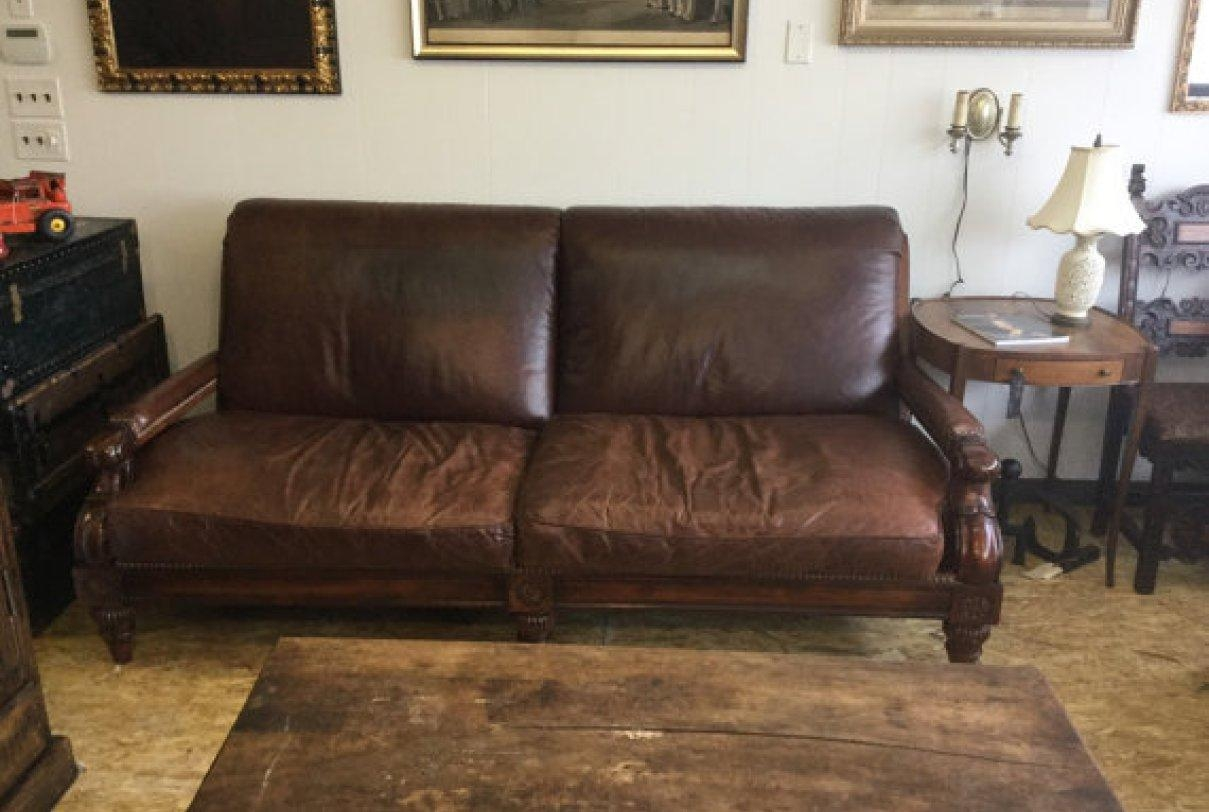 Sofa : Distressed Brown Leather Sectional Sofa (Image 9 of 20)