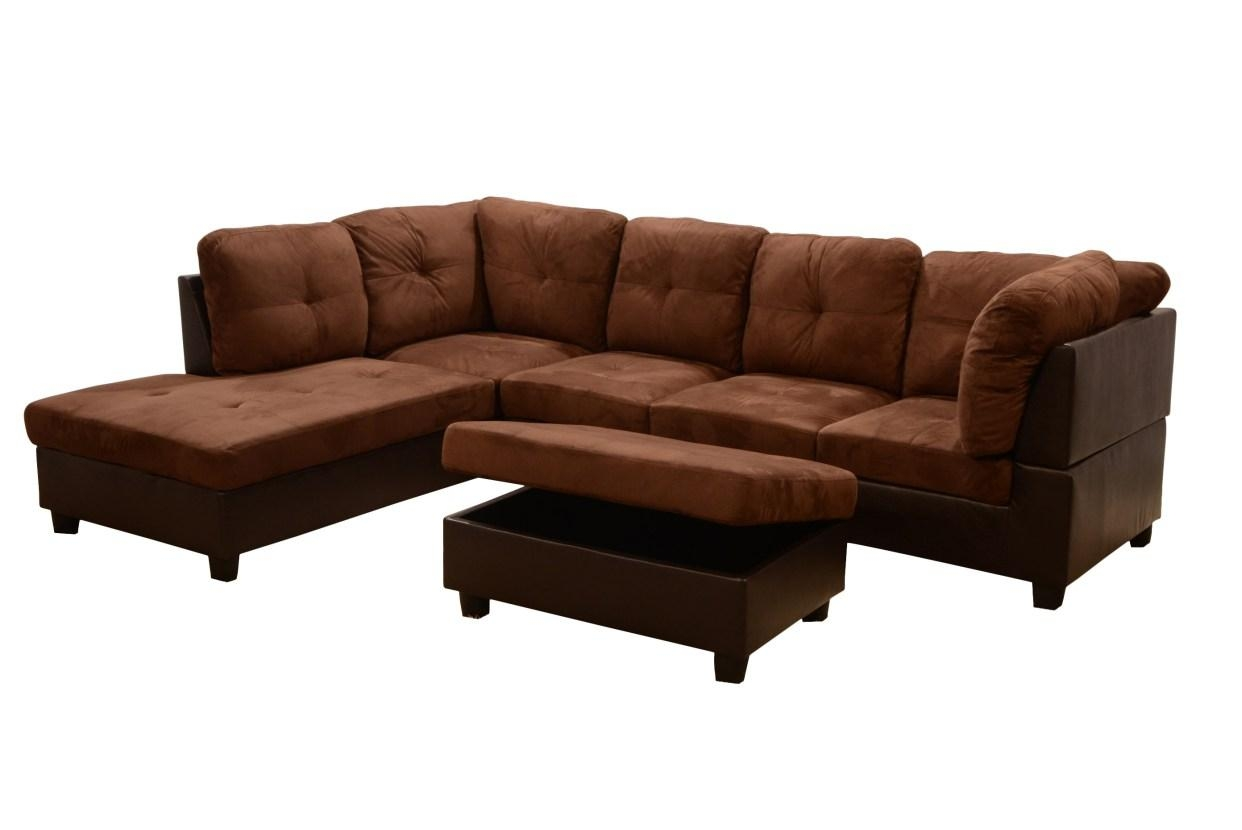 Sofa : Distressed Brown Leather Sectional Sofa (Image 11 of 20)
