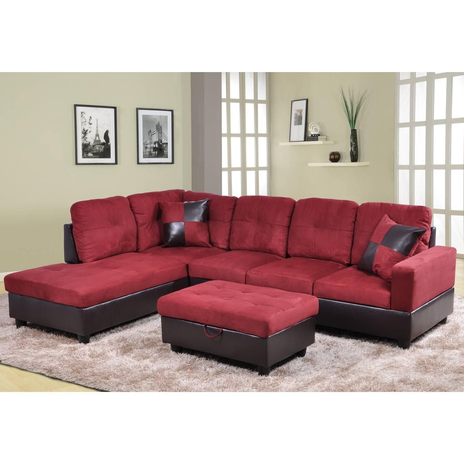 Sofa : Furniture: Beautiful Sectional Sofas Cheap For Living Room For Red Microfiber Sectional Sofas (Image 17 of 21)