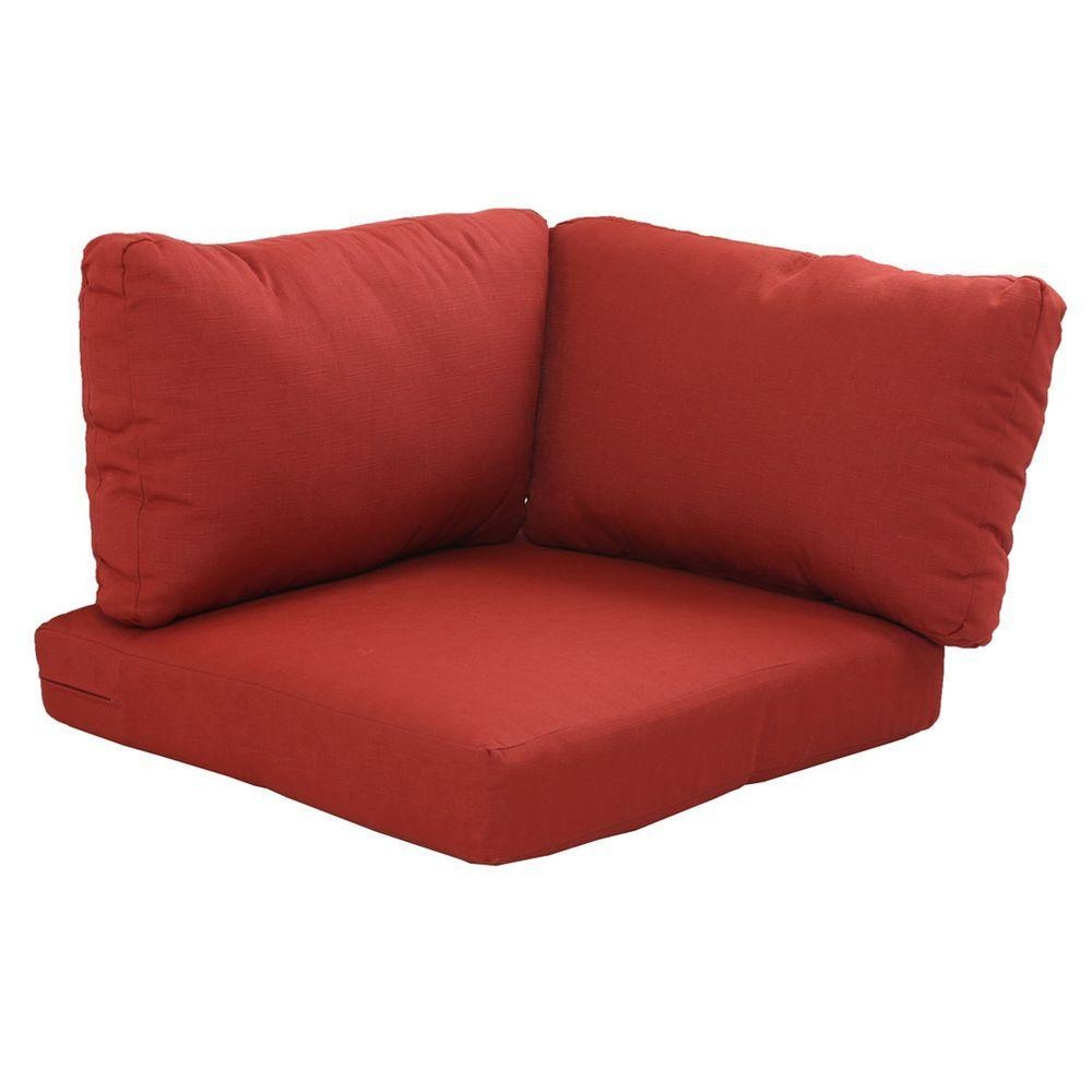 Sofa & Loveseat Cushions – Outdoor Cushions – The Home Depot Intended For Sofa Cushions (View 5 of 21)
