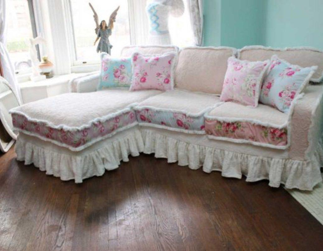 Sofa : Shabby Chic Sofa Slipcovers Likable Shabby Chic Sofa Covers With Etsy Sofas (View 13 of 20)