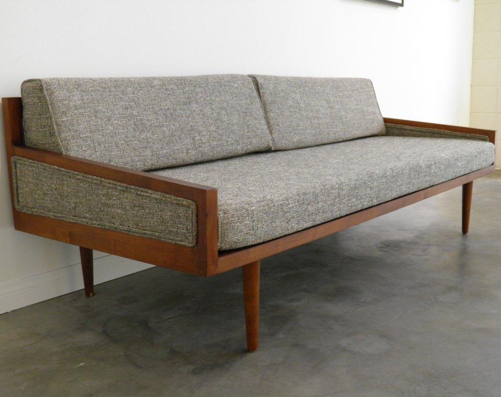 Sofa : Sofas Center : Futon Sleeper Sofa New Mod Mid Century Gray Throughout Mod Sofas (Image 18 of 20)