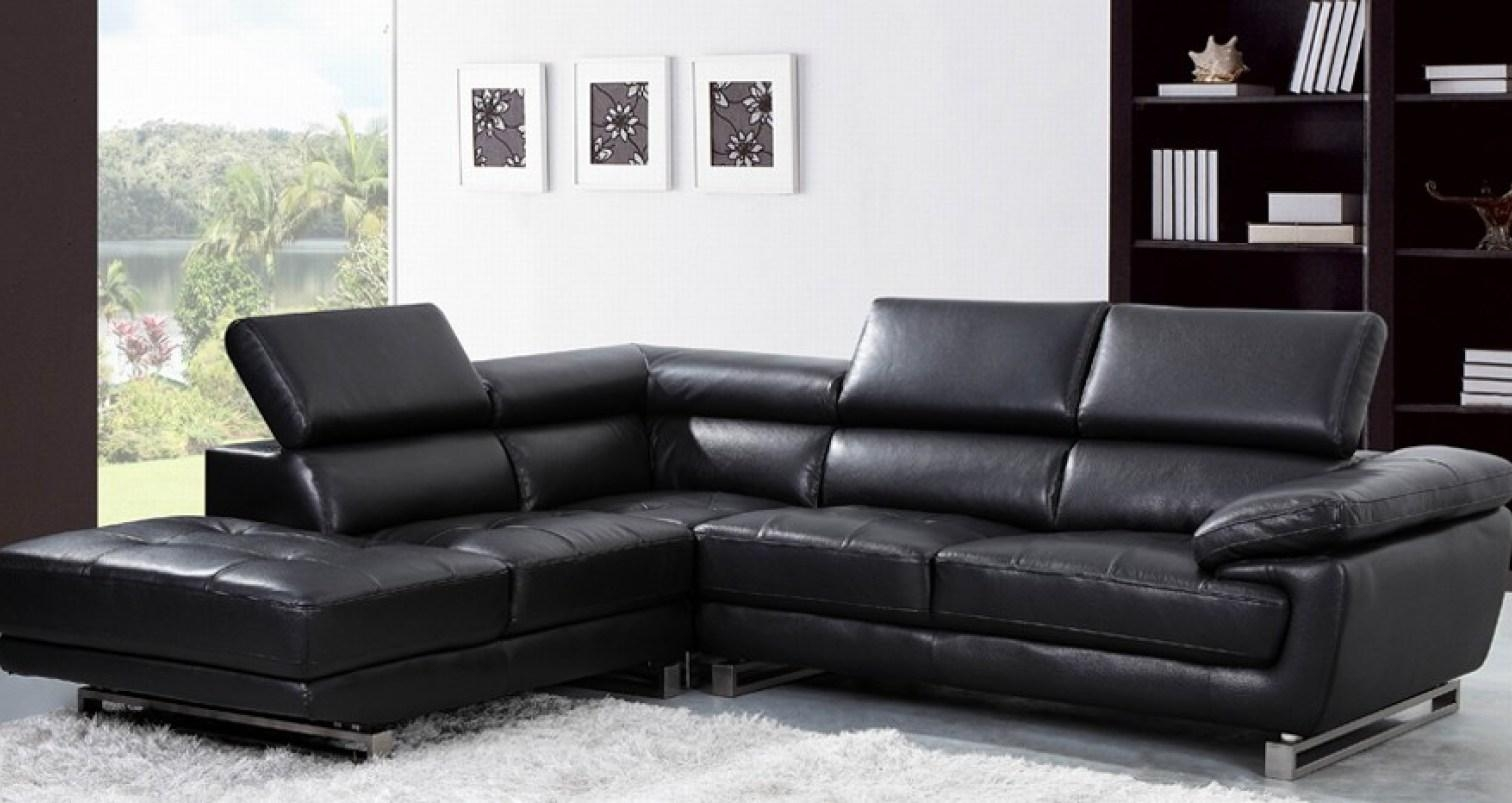 Sofa : Stylish Likable Small Living Room Inspiration The In Large Black Leather Corner Sofas (Image 21 of 22)
